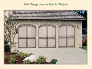 Best Garage door services in Virginia