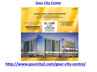 Gaur City Center Commercial Zone Noida Extension