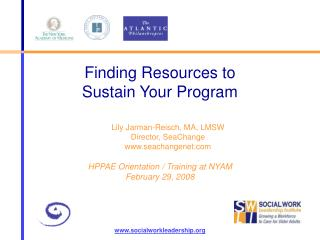 Finding Resources to  Sustain Your Program