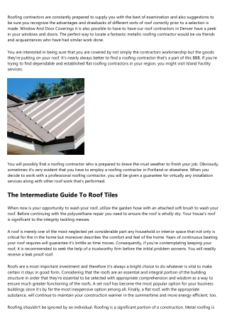 A Beginner's Guide To Cheap Roofing