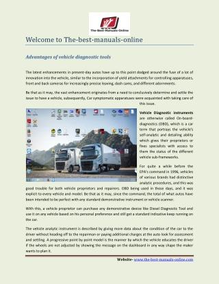 Truck Diagnostic Software- The-best-manuals-online.com