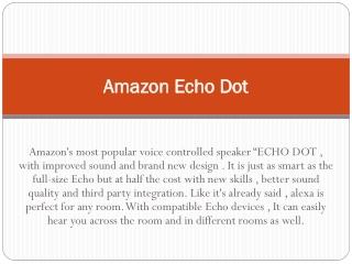 #Amazon Echo Dot Setup Florida