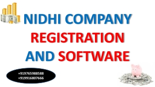 Nidhi Company Software Registration in Websoftex