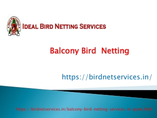 Balcony Bird Netting Services hinjewadi,Pimpri,Hadpsar,Nigdi,Wakad,Baner,Pune   Shree Sai Services