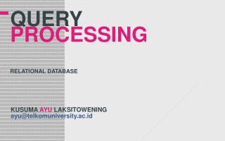 QUEry processing relational database
