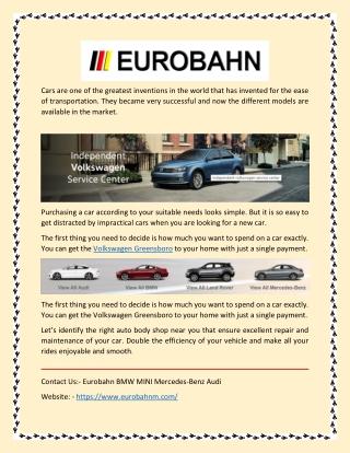 Volkswagen Repair Services at Best Price in Greensboro, NC