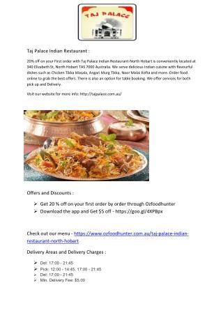 Taj Palace Indian Restaurant-North Hobart