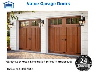 Garage Door Repair & Installation Mississauga