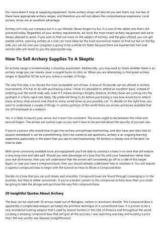 15 Best Blogs To Follow About How To Buy Archery Equipment
