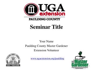 Seminar Title