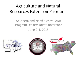 Agriculture and Natural Resources Extension Priorities