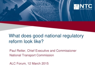 What does good national regulatory reform look like?