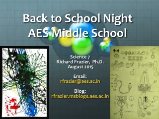 Back to School Night AES Middle School