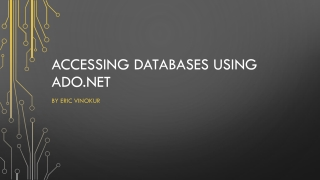 Accessing Databases using Ado