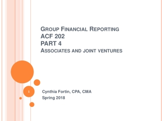 Group Financial  Reporting ACF 202 PART 4 Associates and joint  ventures