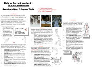 Help Us Prevent Injuries by Eliminating Hazards