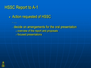 HSSC Report to A-1