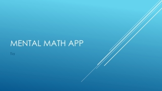 Mental Math app