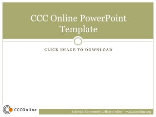 CCC Online PowerPoint Template