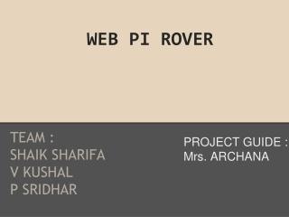 WEB PI ROVER