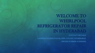 Whirlpool refrigerator repair in Hyderabad