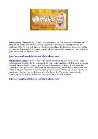 http://www.supplement4advisors.com/infinite-allure-cream/
