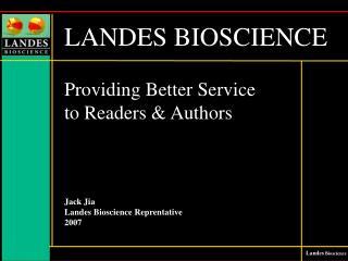 LANDES BIOSCIENCE