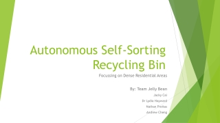 Autonomous Self-Sorting Recycling Bin