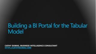 Building a BI Portal for the Tabular Model