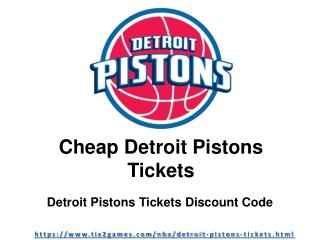 Cheap Detroit Pistons Tickets