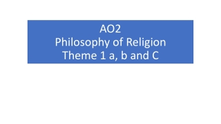 AO2 Philosophy of Religion Theme 1 a, b and C