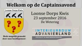 Loonse Dorps Kwis 23 september 2016 De Wetering