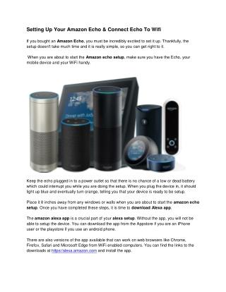 How To Connect Echo To WIFi & Amazon Echo Setup
