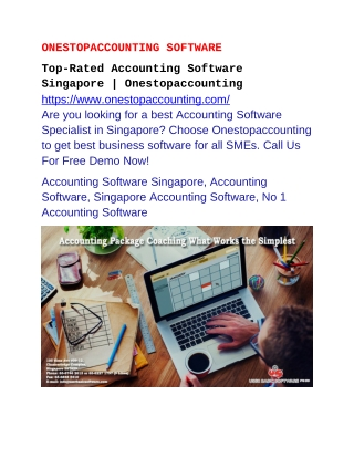 Top-Rated Accounting Software Singapore