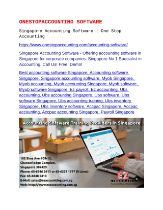 Singapore Accounting Software
