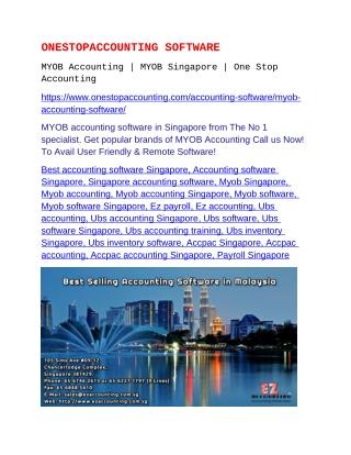MYOB Accounting | MYOB Singapore
