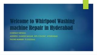 Whirlpool washing machine repair in Hyderabad