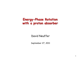 Energy-Phase Rotation with a proton absorber