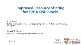 Improved Resource Sharing for FPGA DSP Blocks