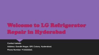 Lg refrigeraor Repair In Hyderabad