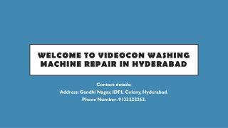 Videocon washing machine repair in Hyderabad