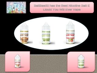 SaltBae50 has the Best Nicotine Salt E Liquid You Will Ever Vape