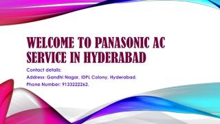 panasonic ac service in hyderabad