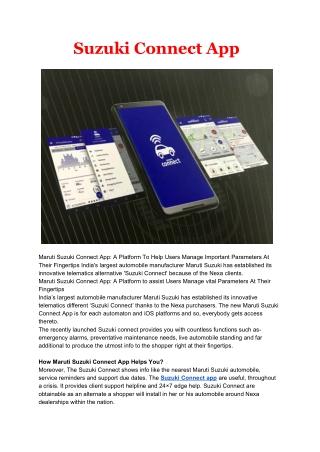 suzuki connect app for iphone