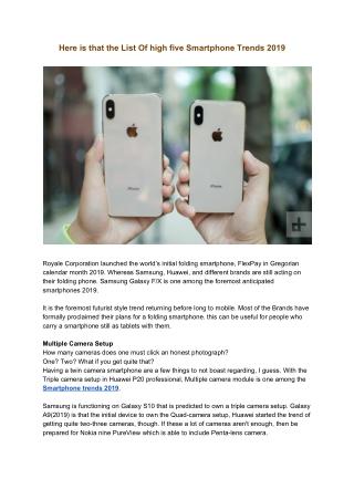 latest smartphone in india price