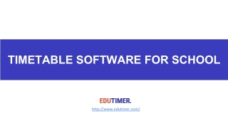 Timetable Software for school