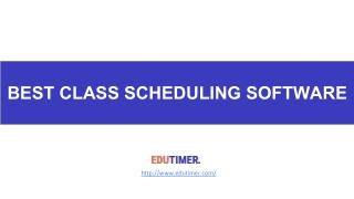 Best Class Scheduling Software
