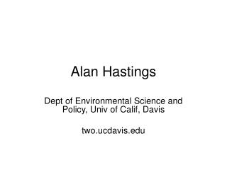 Alan Hastings