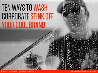 Cleaning Your Cool Brand
