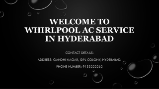 Whirlpool ac service in Hyderabad